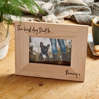 Personalised Pet Wooden Picture Frame