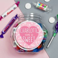 Personalised Your So Sweet Jar Of Sweets