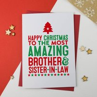 Amazing Brother And Sister In Law Christmas Card