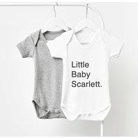 Personalised Short Sleeve Babygrow
