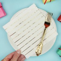 Gold Foil Pinstripe Paper Christmas Party Napkins