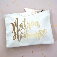 Matron Of Honour Make Up Bag