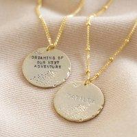 Personalised Antique Effect Disc Pendant Necklace