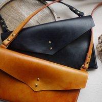 Leather Cross Body Envelope Bag