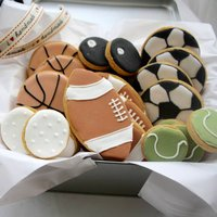 Sports Balls Biscuit Tin