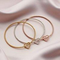 Children's Bead Heart Bangle