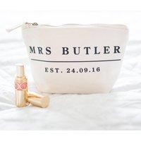 Personalised Wedding Date Make Up Essentials Bag