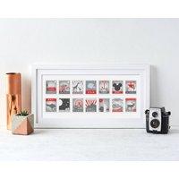 Personalised Stamp Destination Landscape Print