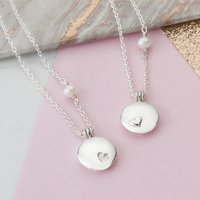 Mother And Daughter Locket Necklace Set