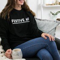 Festive Af Alternative Christmas Sweatshirt