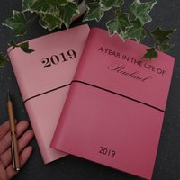 Personalised Year In The Life Leather Diary Journal