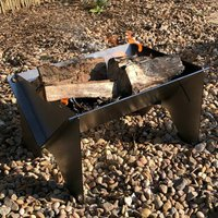 Flat Pack Portable Metal Firepit With Optional Ash Tray