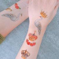 Swan Royal Wedding Temporary Tattoo