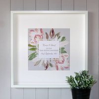 Personalised Pearl Wedding Anniversary Canvas Print