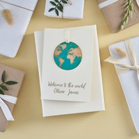 Welcome To The World New Baby Keepsake Card