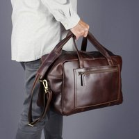 Gilbert Leather Trolley Sleeve Weekend Bag