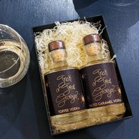 Personalised Salted Caramel And Toffee Vodka Gift Box