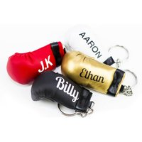 Pair Of Personalised Boxing Glove Keyring