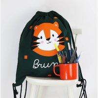 Kids Tiger Gym Bag With Name