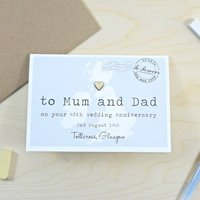 To Mum And Dad Anniversary Wedding Day Card