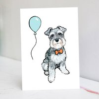 Miniature Schnauzer Birthday Card