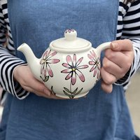 Personalised Hand Painted Daisy Teapot