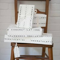 Luxury Congratulations Gift Wrap And Tag
