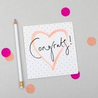 'Congrats' Polka Dot Celebration Card