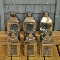 Set Of Six Amalfi Tealight Candle Lanterns