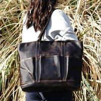 Genuine Leather Tote Shopper Bag