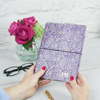 Personalised Recycled Paisley A5 Notebook