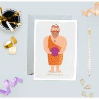 Caveman Birthday Greeting Card