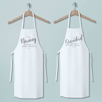 This Nanny And Grandad Belongs To... Personalised Apron's