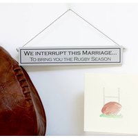 Rugby Hand Painted Wooden Sign