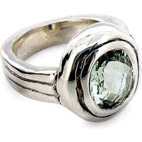Green Quartz Silver Ring, Silver