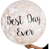 Best Day Ever Elegance Confetti Giant Balloon