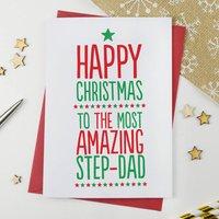 Amazing Step Dad Xmas Card