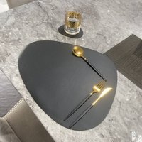 Vegan Leather Oval Placemat And Coaster