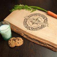 Personalised Christmas Eve Welsh Ash Platter