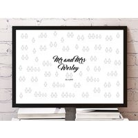 Personalised Mini Figure Wedding Guest Poster