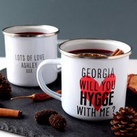 Personlised Will You Hygge With Me Mug