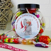 Personalised Me To You Christmas Sweetie Jar