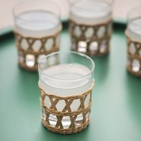 Set Of Four Portmore Tumblers In Natural
