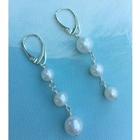 Pearl Drop Dangle Earrings