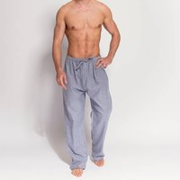 Mens Ash Grey Herringbone Flannel Pyjama Trousers