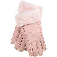 Pink Stitch Womens Sheepskin Gloves