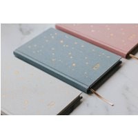 Starry Lined Notebook/ Personalised Notebook/Gift