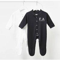 Initials Personalised Baby Sleepsuit