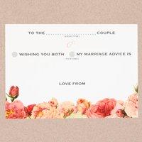 Pack Of 25 Wedding Advice Cards Floral Design