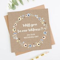 Will You Be Our Witness Wedding Card